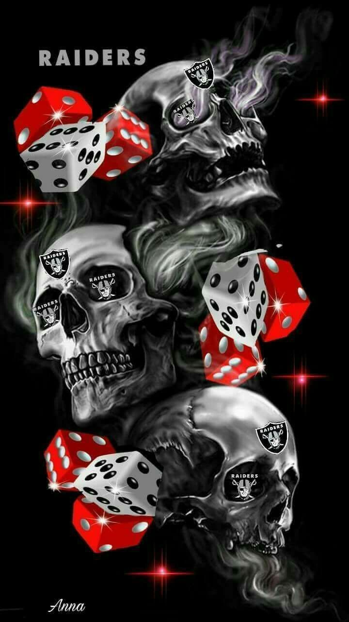 Pin By Brandon Turner On Raiders 4 Ever Skull Wallpaper Raiders