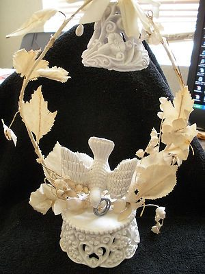 dove wedding cake toppers antique chalkware dove with rings wedding cake topper 13713