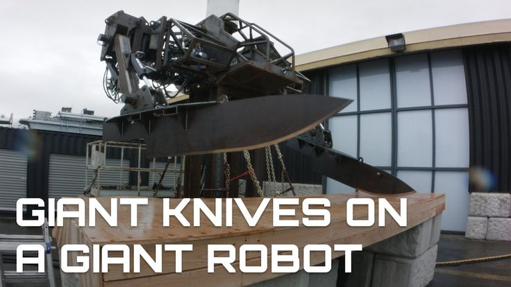 MegaBots Inc. Puts a Giant Set of 500 Pound Steel Knife Arms on Their Giant Combat Robot