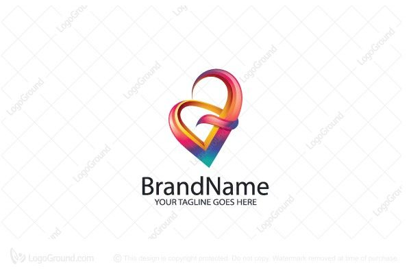 Logo for sale: Colorful Letter V Logo