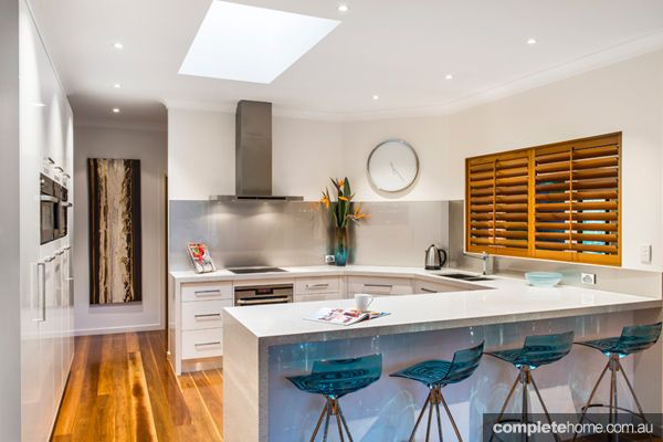 Beautiful colour scheme in this kitchen, from Enigma Interiors