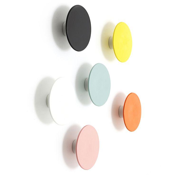 top3 by design - DesignByThem - dial hanger black  White, pink, light blue, yellow and orange