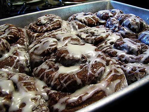 OMG! Cocoa Rolls - just like cinnamon rolls but chocolate instead and filled with a cocoa filling - I can hardly stand this!!!