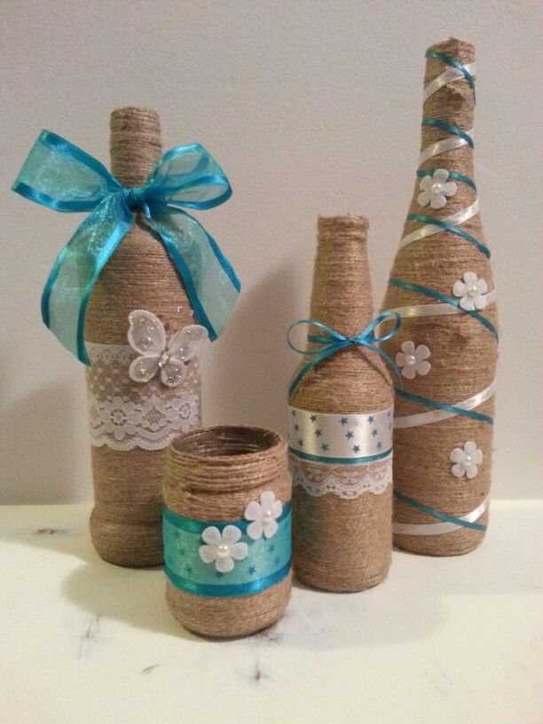Best 25 decorated bottles ideas on pinterest decorating for Empty bottle craft