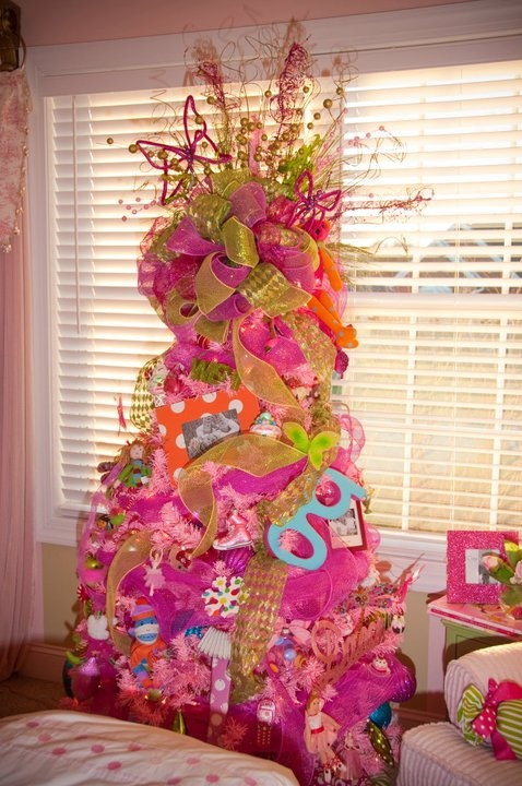 Girly Pink Christmas Tree | christmas xmas holiday decorating decor