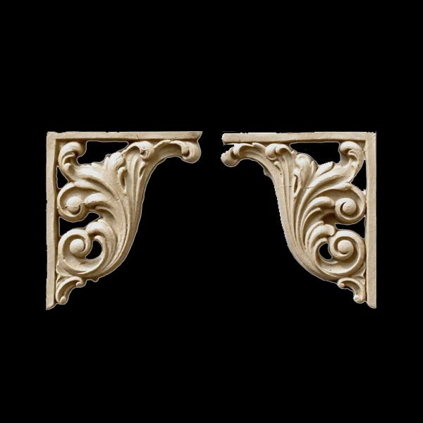 These complimentary stair brackets showcase classically inspired designs that will enhance the overall beauty of any project. Stain-Grade & Paint-Grade. Beautiful composition stair brackets for the interior of your home.