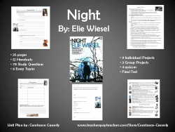 night by elie wiesel unit plan pdf