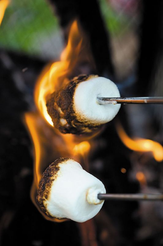 We'll try this inside on our stove top ;)--Roasted marshmallows