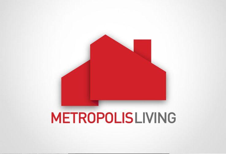 Real Estate Logo design. Metropolis living   // repinned by www.boksteen.de