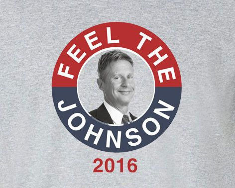 Gary Johnson 2016 Presidential election president feel the johnson tee t-shirt
