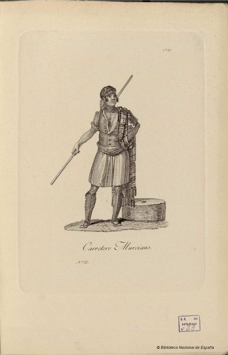 Carretero murciano. Carrafa, Juan 1787-1869 — Grabado — 1825