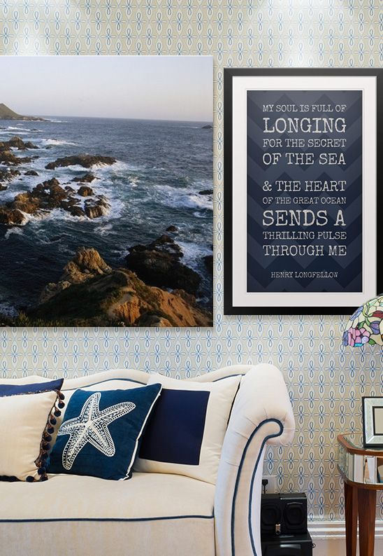 Create An Oasis Of Calm In Your Living Room With A National Geographic Canvas Print Paired Custom Word Art