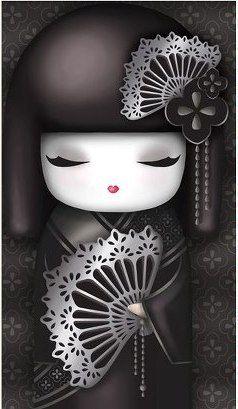 """✿ Kimmidoll Illustration ~ """"Maki"""" 'Dignified' ✿"""