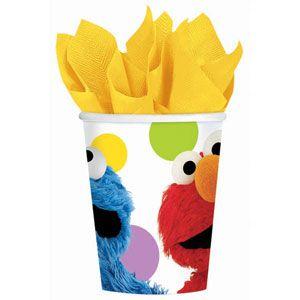 1067 - Sesame Street Cups. Pack of 8 www.facebook.com/popitinaboxbusiness