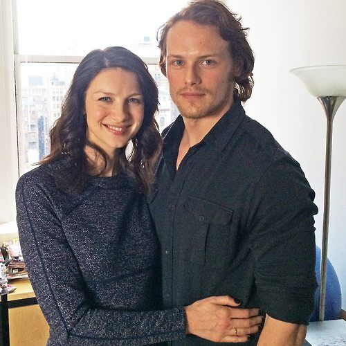 caitriona balfe boyfriend | Caitriona Balfe with cool, Boyfriend Sam Heughan