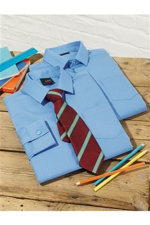 back to school: Long Sleeve Shirts Two Pack (3-16yrs) from Next