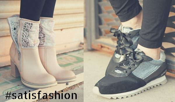 ¿Zapatos planos o con plataforma? #satisfashion #botas #sneakers #sandalias #cuñas #zuecos #FelizViernes