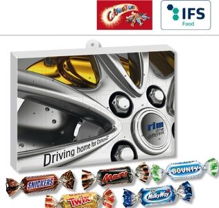 Promotional Christmas Advent Calendar with chocolate Celebrations
