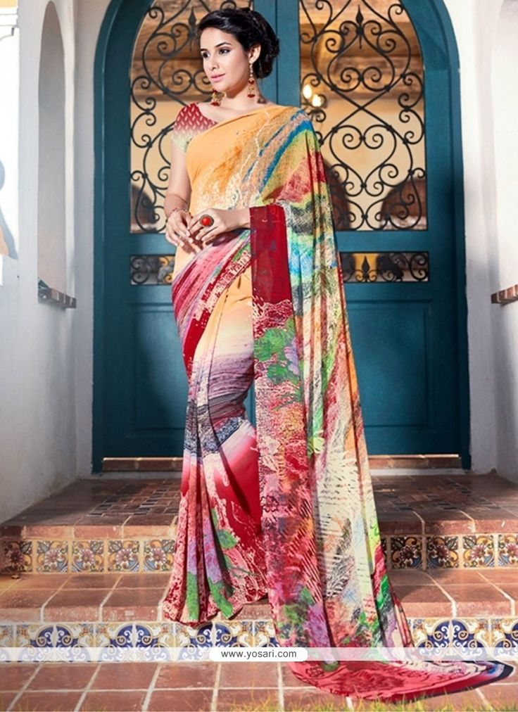 Beautiful Print Work Printed Saree Model: YOSAS0555