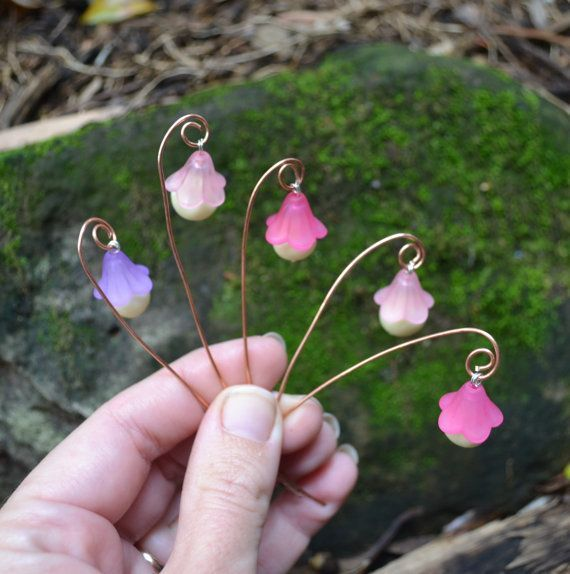 Miniature Flower Fairy Lamp glows in the dark by PinkyDinkyDesigns, $2.20 - DIY Fairy Gardens