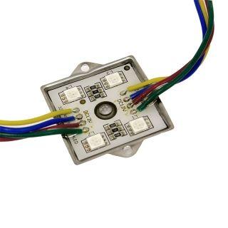 20er RGB SMD LED Modul Kette 4 LED IP65