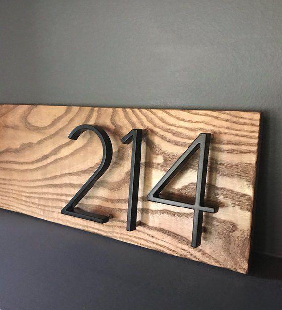 R U R A L Salvage Modern Black House Numbers In 2020 Black