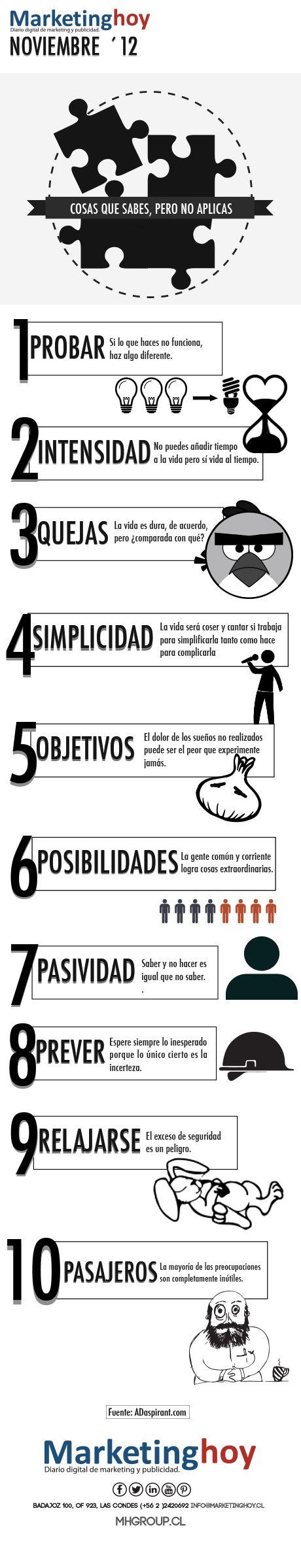 10 cosas que sabes hacer pero que casi nunca haces #infografia