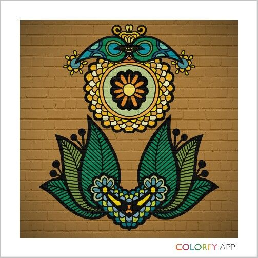 wall  #colorfy