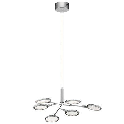 Orren Ellis Rusnak 6-Light LED Sputnik Modern Linear Chandelier