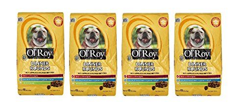 Ol' Roy Dinner Rounds Dry Dog Food, 15-Pound (Pack of 4) ** You can find more details by visiting the image link. (This is an affiliate link) #Pets