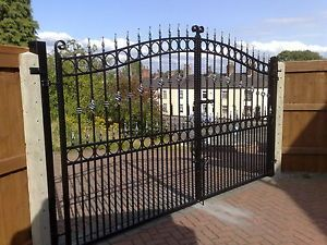 At Cannock Gates we manufacture all of our wrought iron style gates and supply them direct to you from the factory here in the UK. Description from gatedmmuni.com. I searched for this on bing.com/images