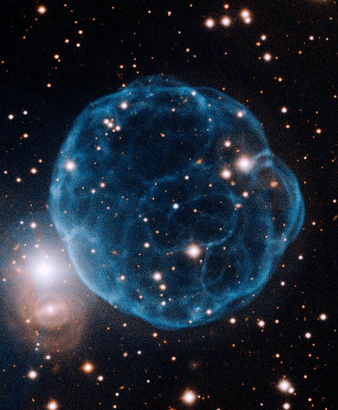 Exhaled by a dying star, the newly-discovered planetary nebula, Kronberger 61, is named for its finder: Austrian Matthias Kronberger, member of the amateur astronomy group Deep Sky Hunters. #space