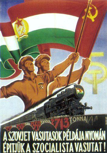 Hungarian People's Republic railway poster