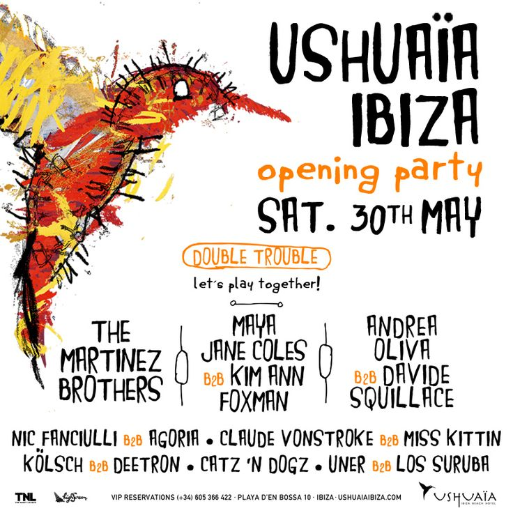 Ushuaïa Ibiza Beach Hotel Opening Party Saturday 31th May 2015