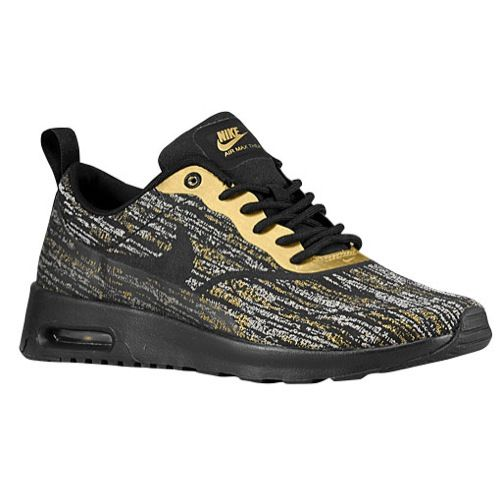 04eb601d126 Women s Nike Air Max Thea in black and metallic gold  Casual  Shoes