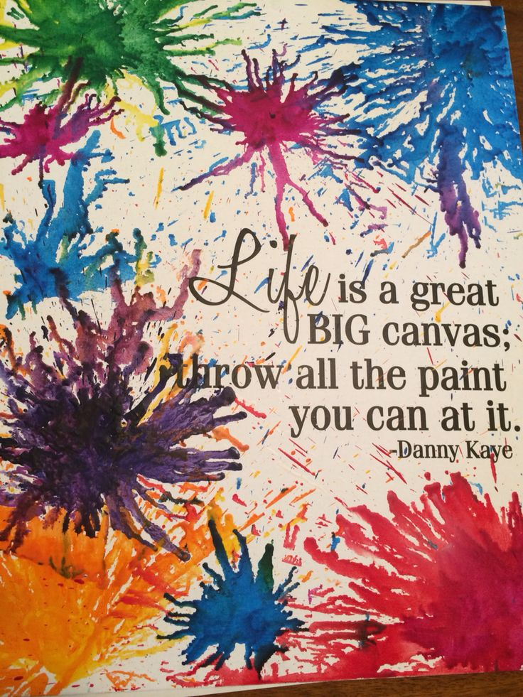Quote by Danny Kaye with melted crayon