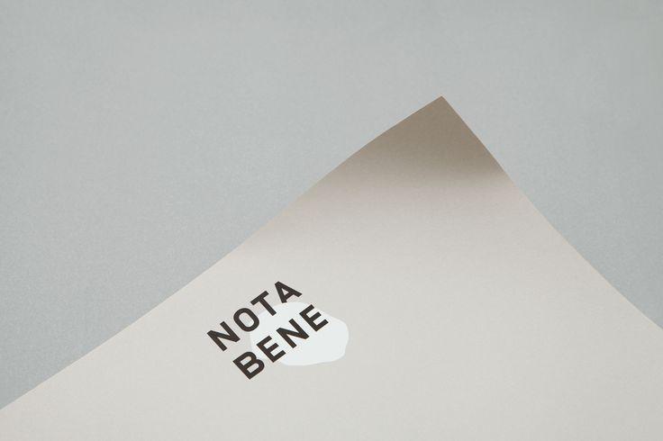 This charming identity was createdby Toronto based agency Blok Design for the popular Canadian restaurant Nota Bene....  #colour #branding #restaurant