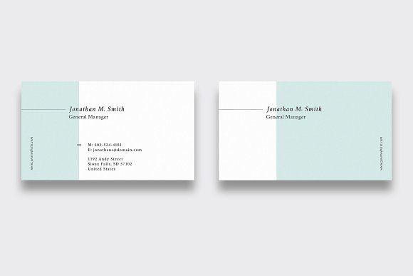 Minimal Business Card Minimal Business Card Business Card Design Minimal Business Card Branding