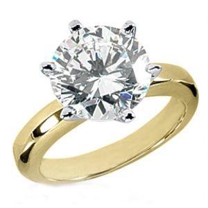 Verlobungsring, Diamantring 0.50 Karat Diamant in 585er Gelbgold vom Juwelierhaus Abt in Dortmund günstig kaufen.  #diamantring #verlobung #gelbgold #diamant #brillant #juwelier #abt #dortmund