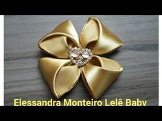 DIY:FLOR DE CETIM!!|ELESSANDRA MONTEIRO LELÊ BABY - YouTube