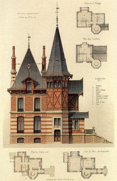 M s de 25 ideas incre bles sobre planos de casa de estilo for Casa revival gotica