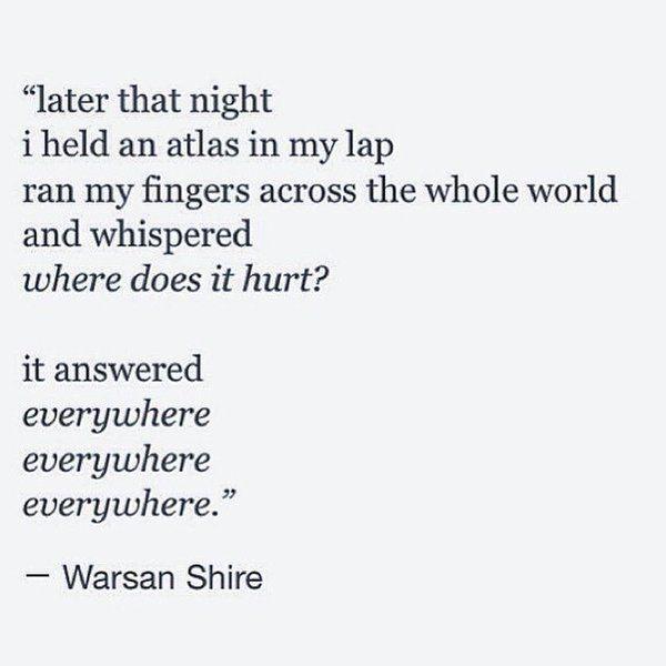 Warsan Shire ~ Somali-British poet