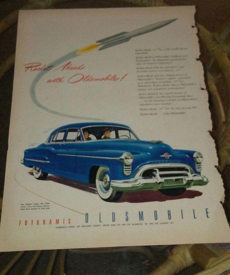 Vintage ad 1950 Oldsmobile