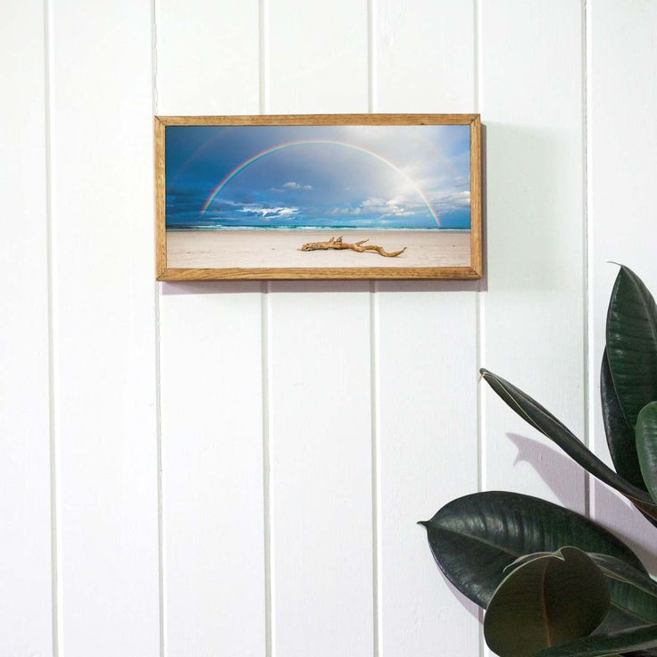 Rainbow photo print on stone by Imogen Stone. Photograph by Photography Byron Bay