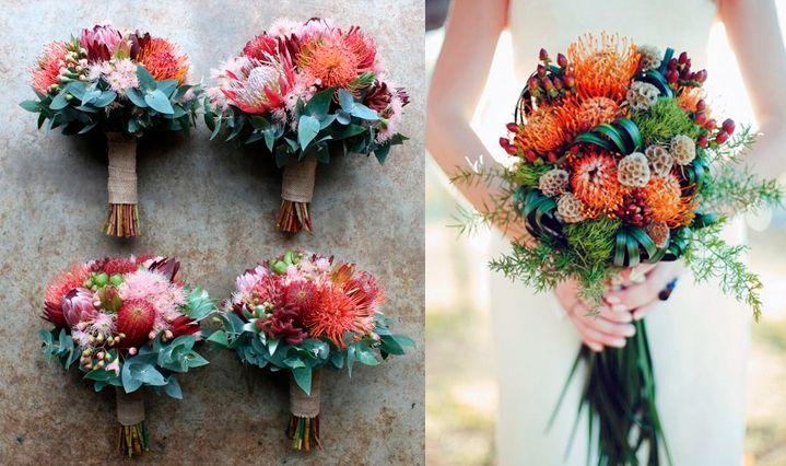 10 flores exóticas e lindas na decoração do casamento - Leucospermum/ Alfineteira