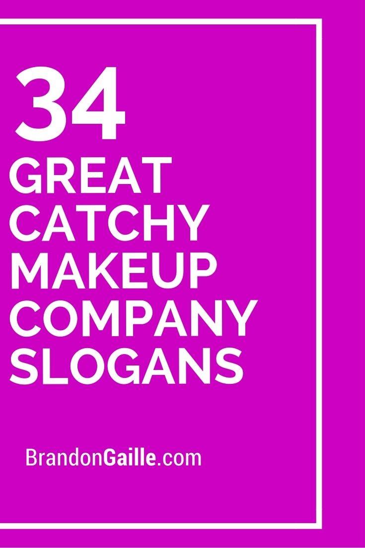 34 Great Catchy Makeup Company Slogans