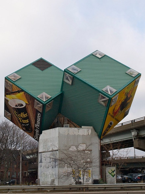 A Interesting Living Space That Is Also A Home For Billboards. In Toronto,  Ontario, Canada.
