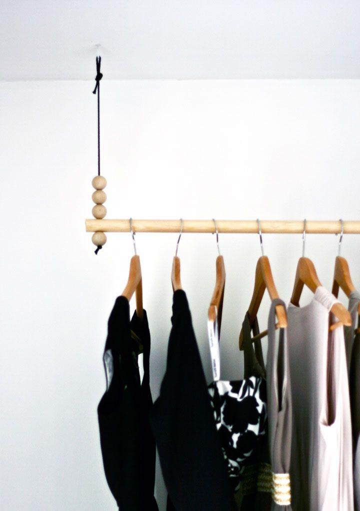 Kaaosteoria sisustusblogi: DIY: Katosta roikkuva vaaterekki