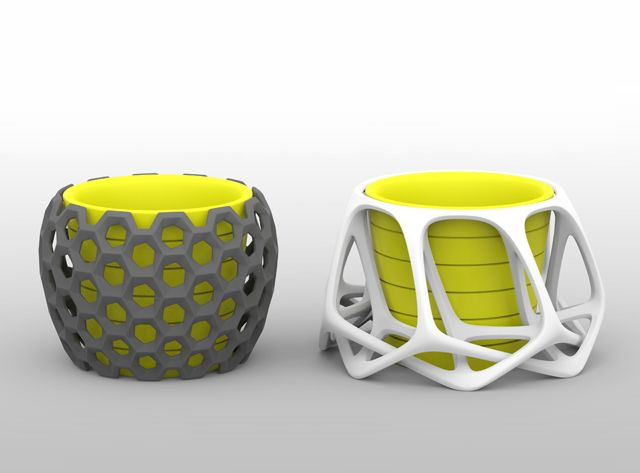 Parametric Flowerpots - a 3D model by meshtush | VECTARY  Frames for IKEA flowerpots made in scale, made with Vectary.  ikeahack, ikea, 3D printing, home decor, diy, flowerpot, diy project, design