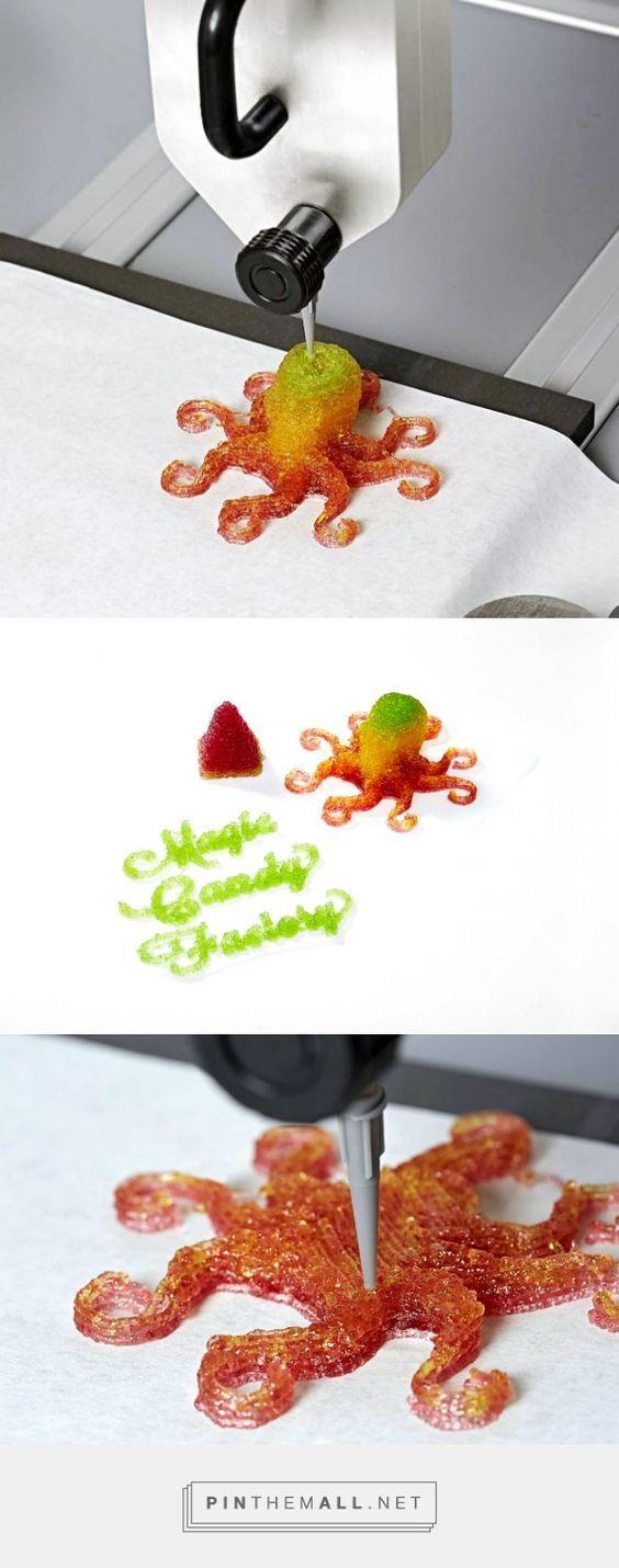 3D FOOD PRINTING  Magic Candy Factory 3D Prints Gummies - 3D Printing Industry:  http://www.lifestyl3d.com/lusine-a-bonbons-magiques-debarque/